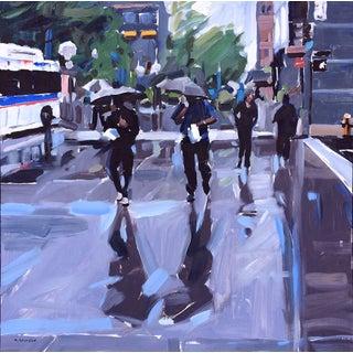 David Shingler Denver Cityscape Rain Painting