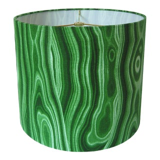 Made to Order Malachite Green Large Drum Shade
