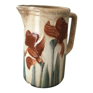 Floral Saltglaze Hand Painted Pitcher