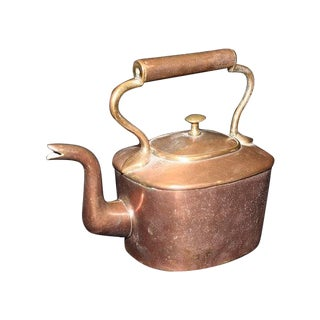 Copper Goose-Neck Tea Kettle With Dovetail Seams
