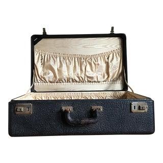 Antique Black Leather Suitcase
