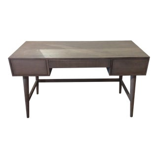 Weathered Grey Mid-Century Modern Style Desk