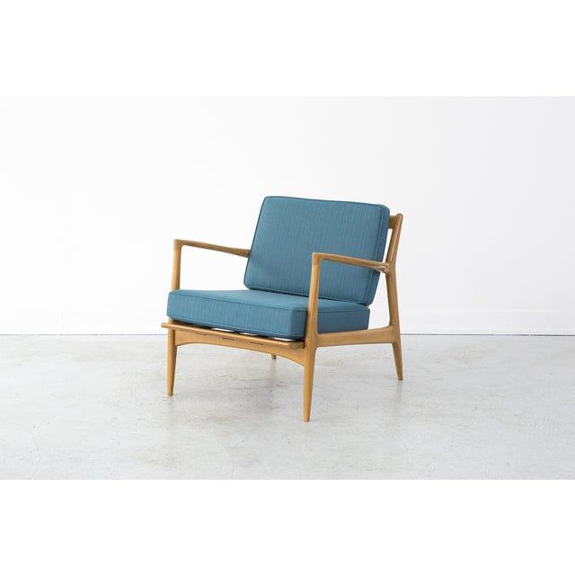 Image of Ib Kofod Larsen Lounge Chair & Ottoman Set
