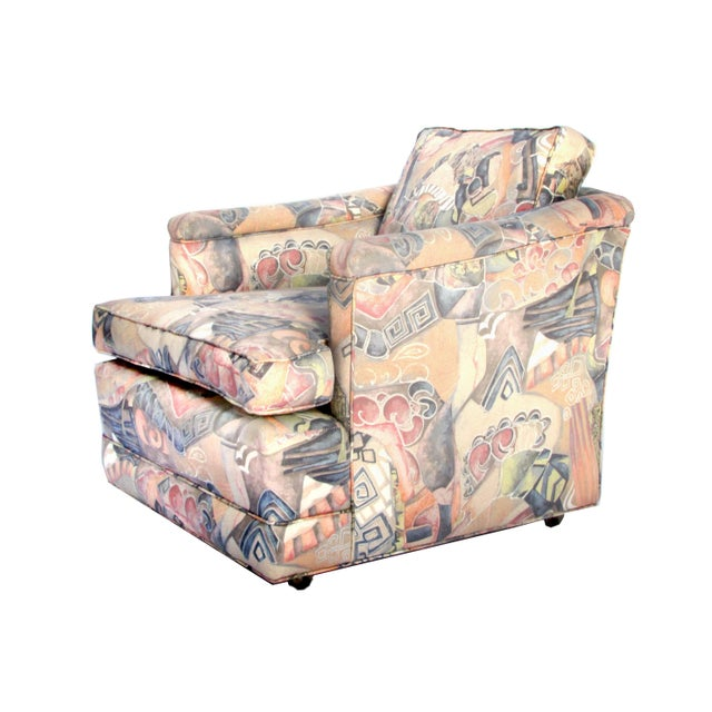 1960s Upholstered Club Chairs - A Pair - Image 3 of 5
