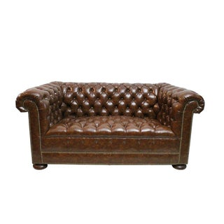 Hickory Chair 1895 Leather Chesterfield Sofa
