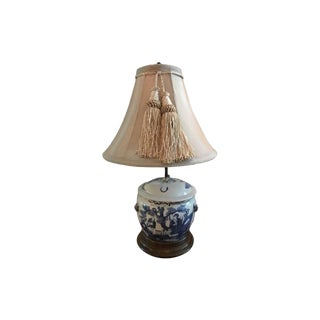 Blue & White Porcelain Lidded Vase Lamp