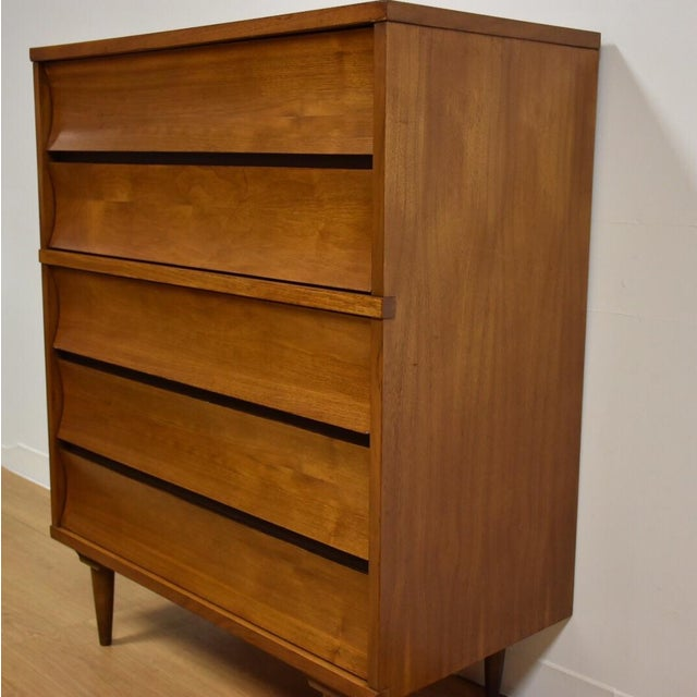 Johnson Carper Walnut and Formica Tall Dresser - Image 4 of 8