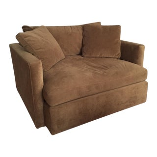 Crate and Barrel Microfiber Club Chair