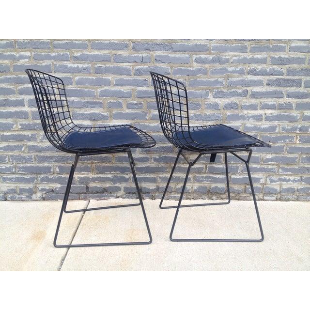 Harry Bertoia Black Side Chairs - Pair - Image 4 of 7
