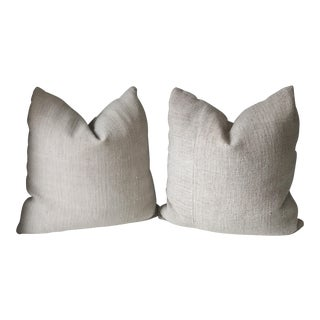 French Grain Sack Pillows - A Pair