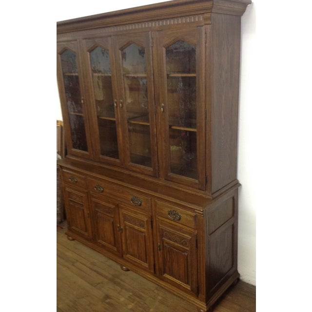 Ethan Allen Breakfront China Cabinet - Image 3 of 11