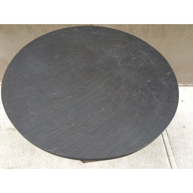 Paul Evans Round Slate Top Table - Image 4 of 7