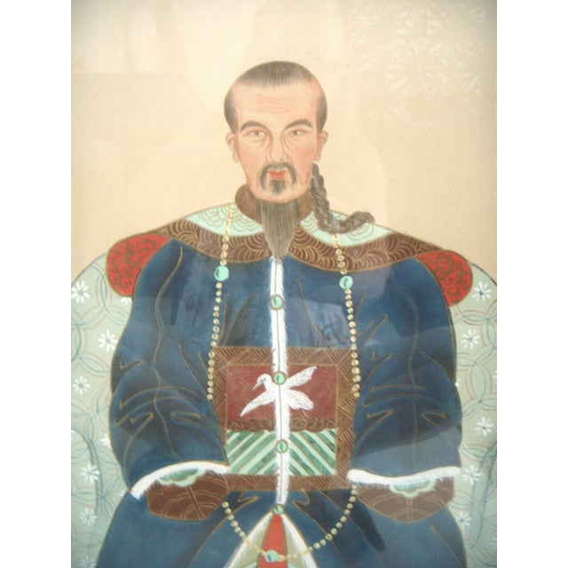 Fine Chinese Ancestor Portrait Paintings - Pair - Image 3 of 9