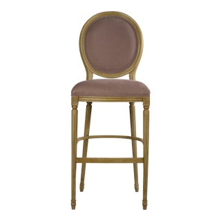 Sarreid LTD Louis XVI Round Back Bar Stool