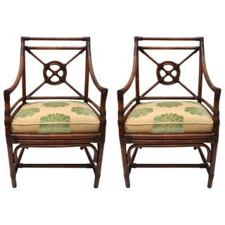McGuire Rattan Armchairs - A Pair