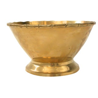 Brass Bowl with Bamboo Rim