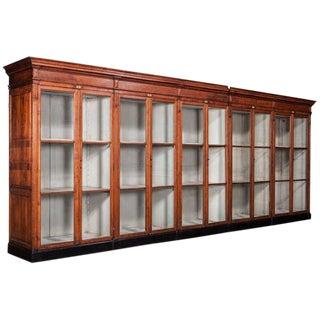 Massive Oak Display Cabinet