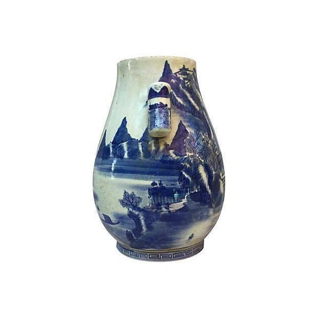 Chinese Blue & White Willow Vase - Image 4 of 6