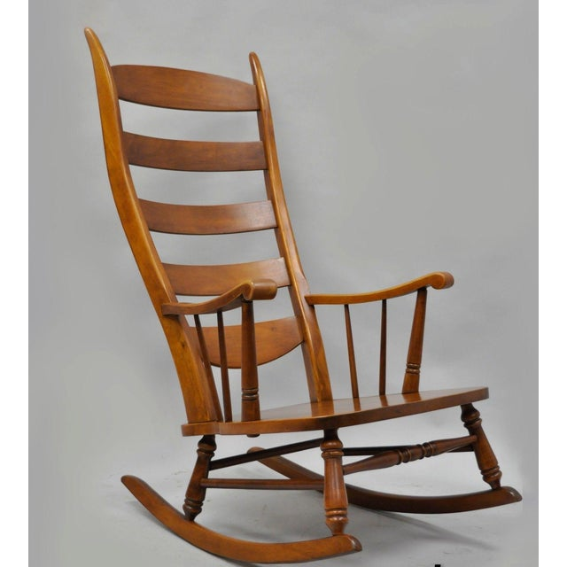 Mid-Century Tell City Maple Sculptural Ladder Back Rocking Chair - Image 11 of 11