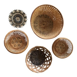 Boho Wall Hanging Baskets - Set of 5