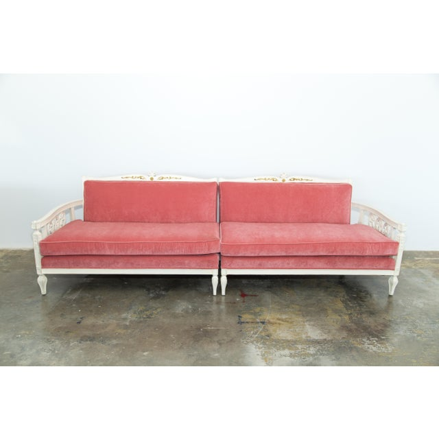 Vintage Pink Velvet Sofa Chairish