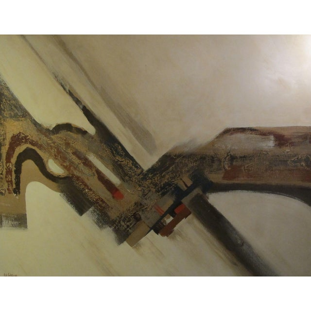 1970s Listed Artist Lee Reynolds Abstract Painting - Image 1 of 6