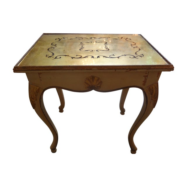 Image of French Gilt Decorated Drinks Side Table