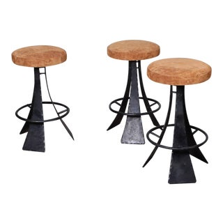 Forged Steel Barstools Designed by John Baldasare