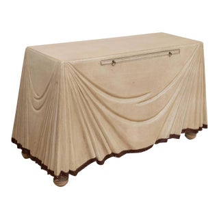 Italian Leather Wrapped Console