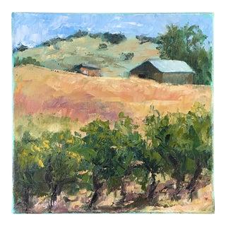 Vineyard Landscape Oil Painting
