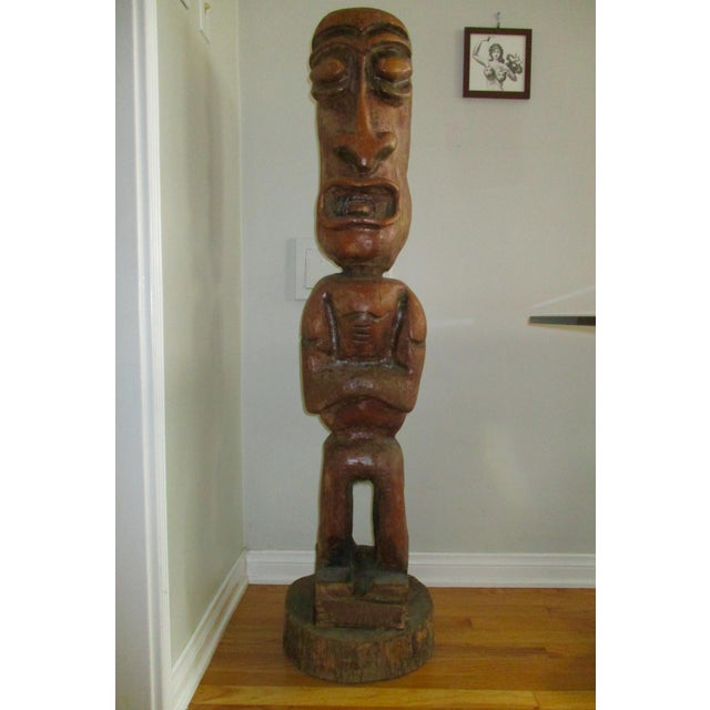 Carved Tiki Garden Statue - Image 2 of 7
