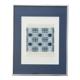 Signed Vintage Woven Textile Art