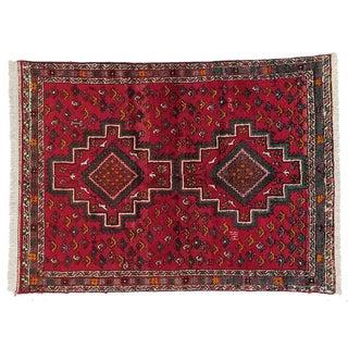 "Vintage Persian Shiraz Rug- 4'5""x6'0"""