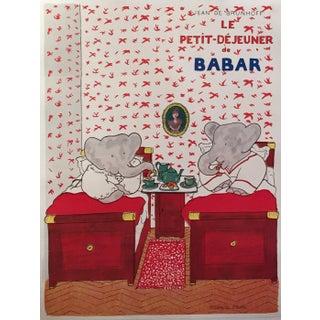 Original French Babar Poster 'Petit Dejeuner'