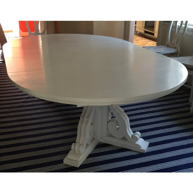 White Dining Table with Two Leaves - Image 2 of 6