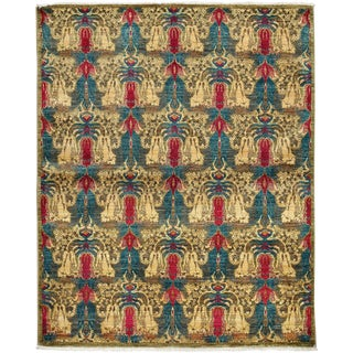 """Suzani, Hand Knotted Area Rug - 5' 2"""" x 6' 5"""""""