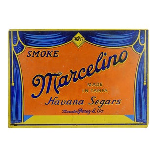 Circa 1920s Marcelino Cigar Sign