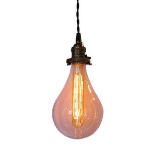 Light Bulb Glass Shade Pendant