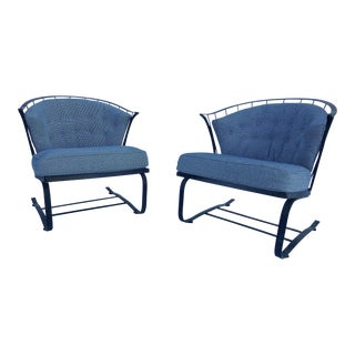Woodard Mid-Century Spring Chairs - A Pair