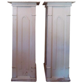 Painted Shabby Chic Columns - A Pair