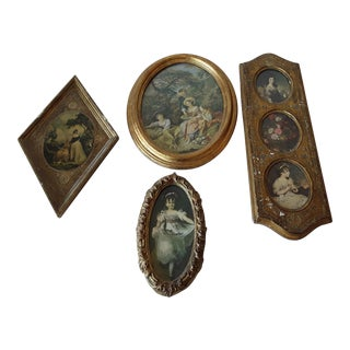 Florentine Gilt Framed Prints- Set of 4