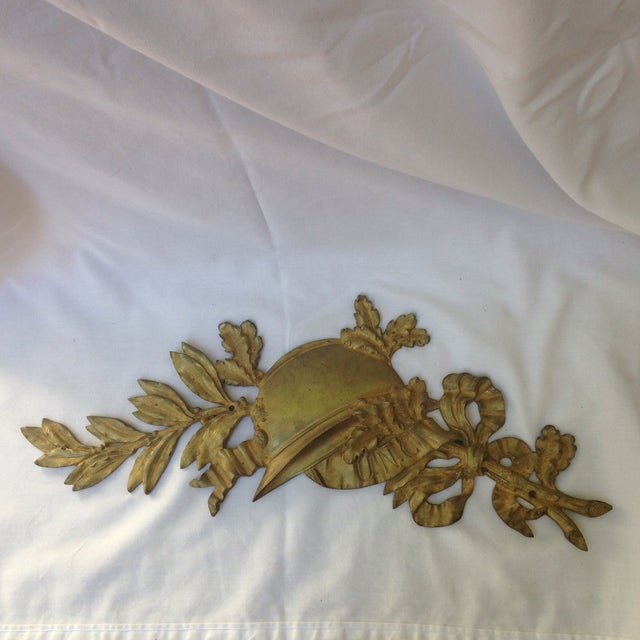 French Gilt Bronze Wall Plaque - Image 2 of 7