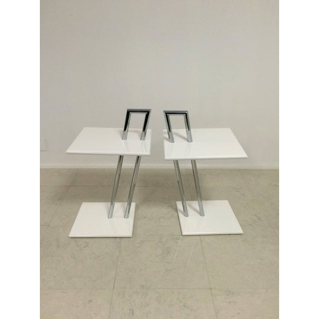 Image of Vintage Eileen Gray Occasional Tables - A Pair
