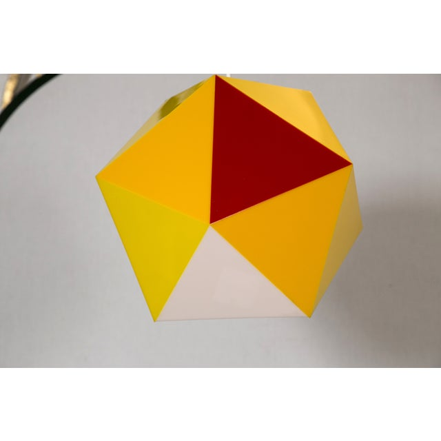Geodesic Yellow & Orange Acrylic Pendant Light - Image 3 of 6