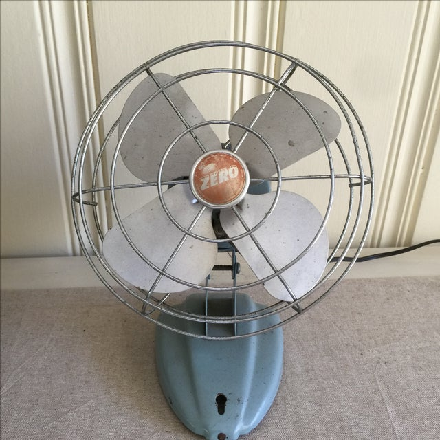 Vintage Mid-Century Oscillating Fan - Image 2 of 8