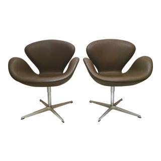Arne Jacobsen Swivel Swan Chairs - A Pair