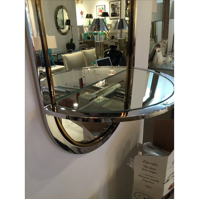 Chrome and Brass Mirror with Console by DIA - Image 6 of 6