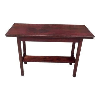 Antique Red Sofa Table