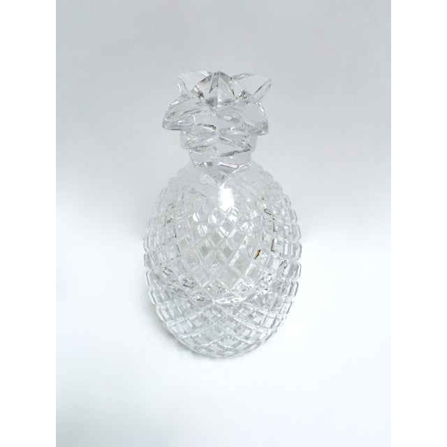 Vintage Large Clear Glass Pineapple With Lid - Image 6 of 9