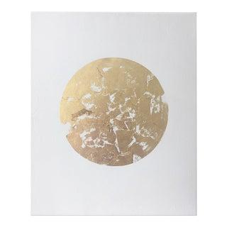 Gilded Gold Leaf Circle Original Painting - 40 x 52